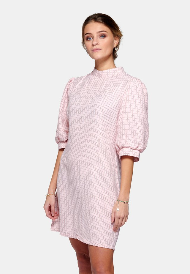 Korte jurk - rose check