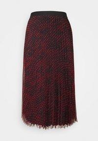 Guess - RAEGAN REVERSIBLE SKIRT - A-line skirt - scratched vichy black - 3