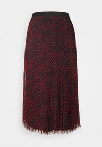 RAEGAN REVERSIBLE SKIRT - A-line skirt - scratched vichy black