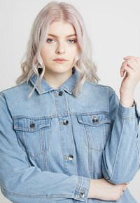 Simply Be - OVERSIZED JACKET - Denim jacket - bleachwash - 4