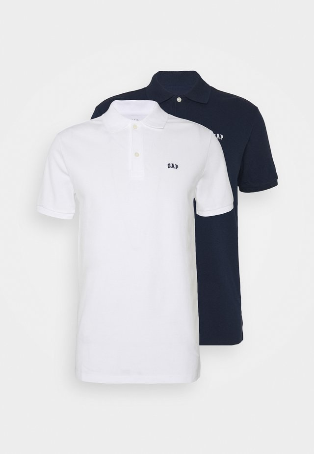 LOGO 2 PACK - Polo shirt - white/navy
