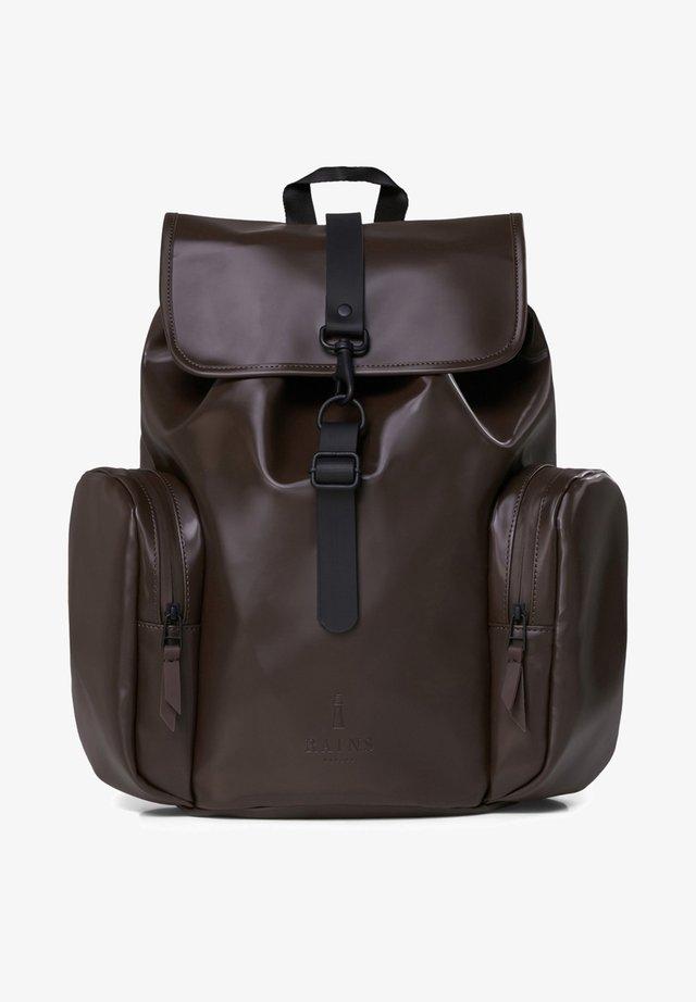 Rucksack - shiny brown
