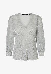 Vero Moda - MIT LANGEN ÄRMELN PAILLETTEN - Blouse - silver sconce - 4