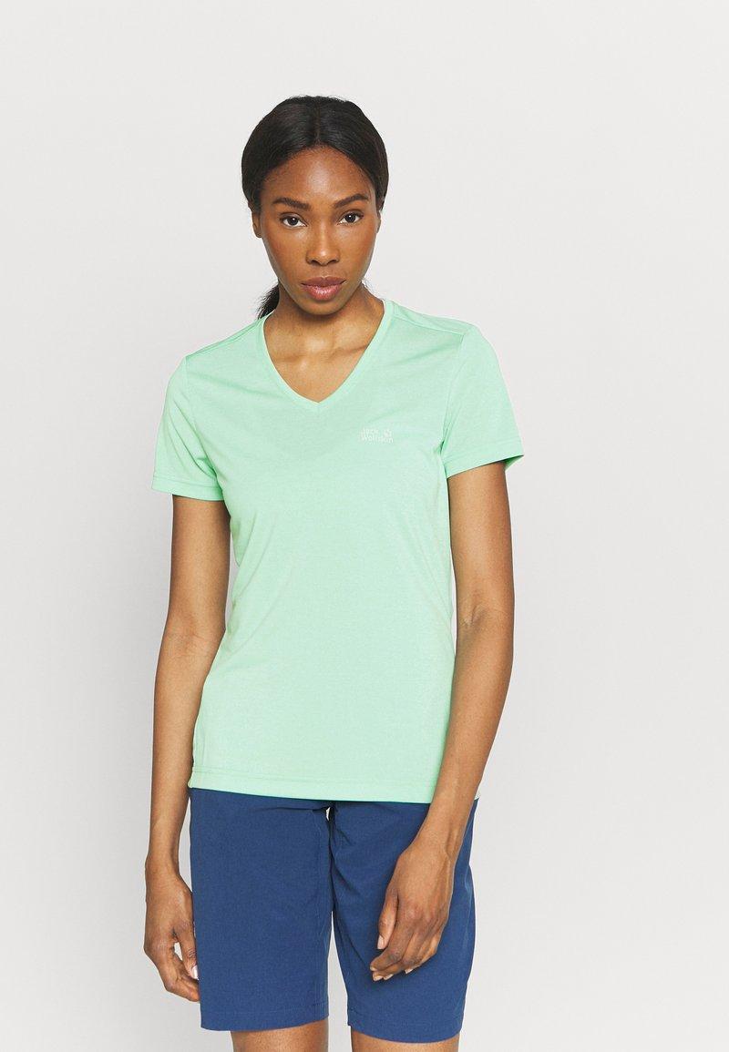 Jack Wolfskin - CROSSTRAIL WOMEN - Basic T-shirt - pacific green