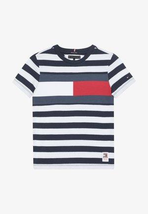 CUT SEW STRIPE TEE - Print T-shirt - blue