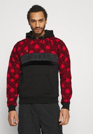 GALVEZ OVERHEAD - Sweatshirt - black/red
