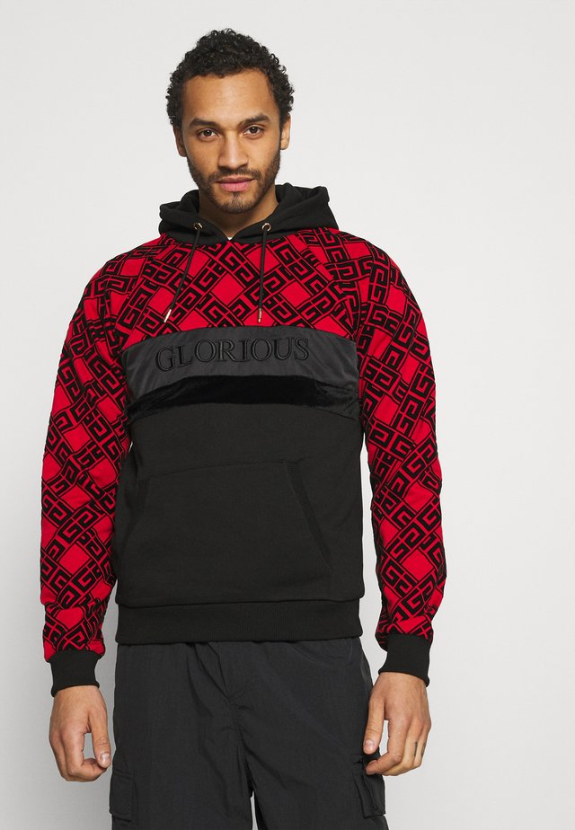 GALVEZ OVERHEAD - Sweater - black/red