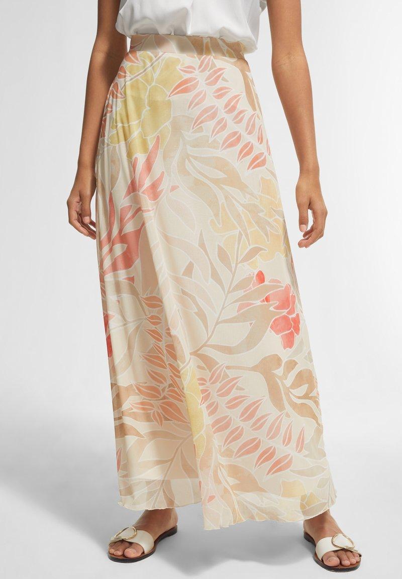 comma - BEDRUCKTER - A-line skirt - coral leaf