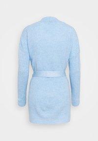Dorothy Perkins - CHUNKY WRAP LONGLINE - Kardigan - light blue - 1