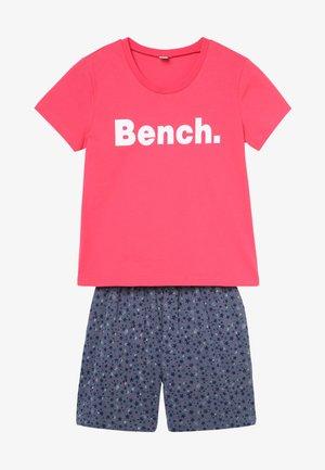 SHORTY - Pyjama set - coral/dark blue