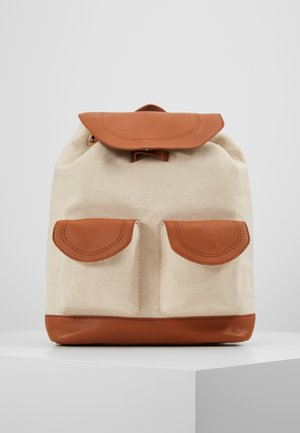 LEATHER/COTTON - Mochila - cognac