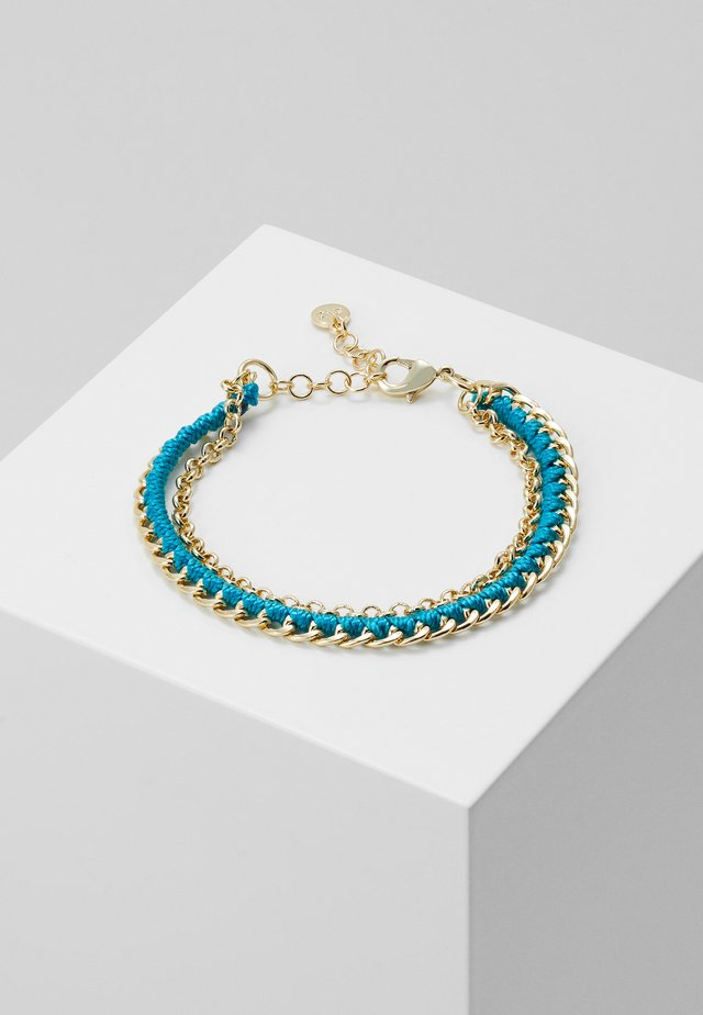 TRAIL BRACE - Armband - gold-coloured/turquoise