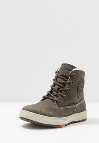 Lurchi - DOUG TEX - Šněrovací kotníkové boty - black/olive - 2