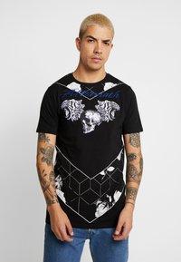 AFTERMATH - TIGER SKULL PRINT - Print T-shirt - black - 0