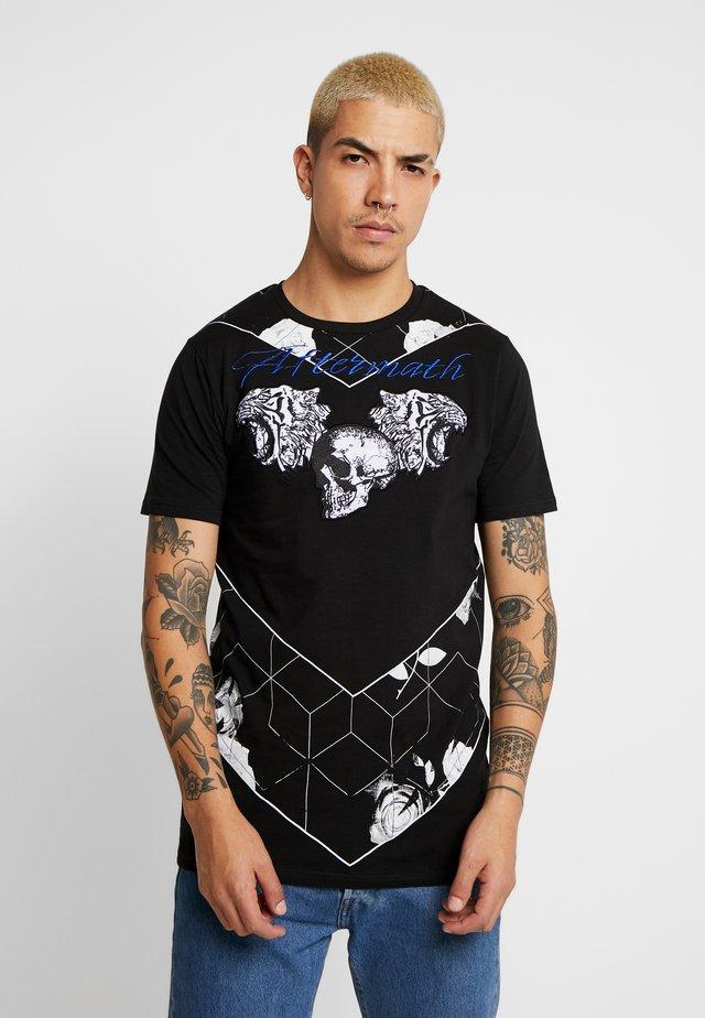 TIGER SKULL PRINT - T-shirt z nadrukiem - black