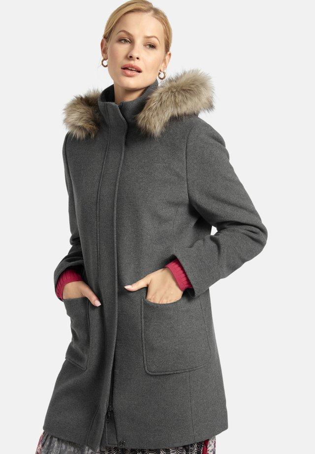 Winter coat - dunkelgrau-meliert