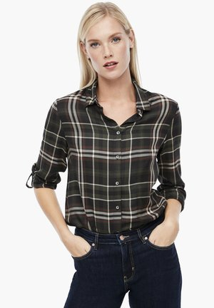 MIT TARTAN-CHECK - Button-down blouse - khaki check