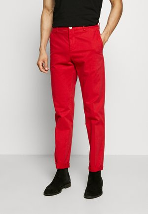 STRETCH SLIM FIT PANTS - Trousers - red