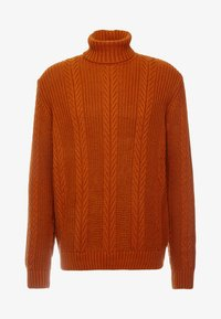 New Look - CABLE PATTERN ROLL NECK - Neule - burnt orange - 4