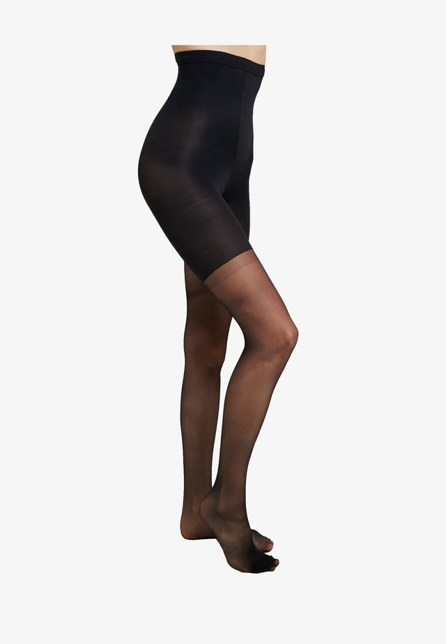 HIGH WAIST SHAPING SHEERS - Collant - very black