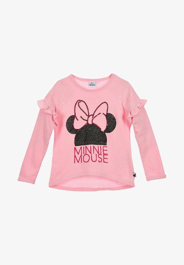 MIT RÜSCHEN - Sweatshirt - pink