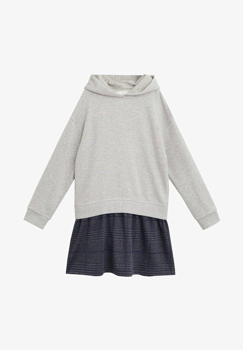 Mango - CONTRASTING PRINT - Day dress - medium heather grey