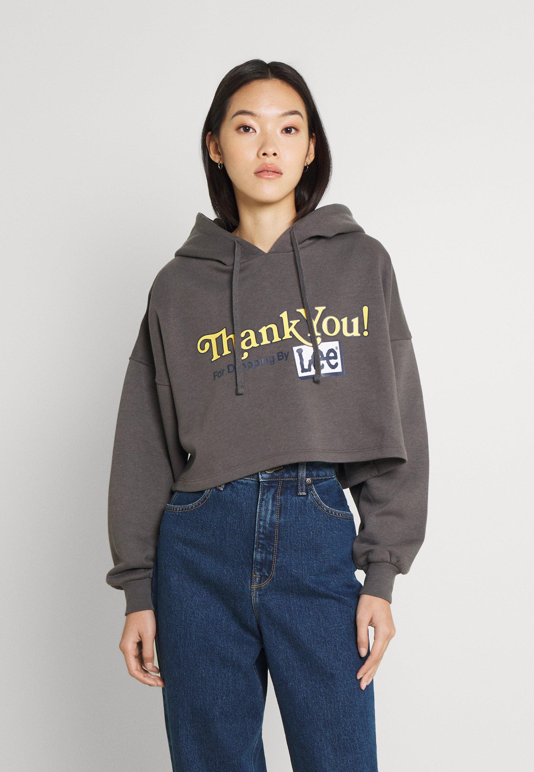 Women CROPPED LOOSE HOODY - Sweatshirt
