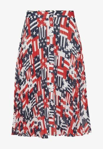 STAR  - A-line skirt - star stripe print