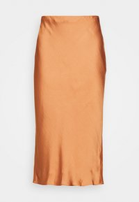 BIAS MIDI SLIP - A-line skirt - pink sand dune