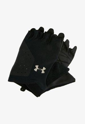 TRAINING GLOVE - Kurzfingerhandschuh - black/silver
