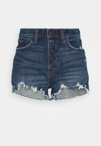Abercrombie & Fitch - Denim shorts - dark blue denim - 3
