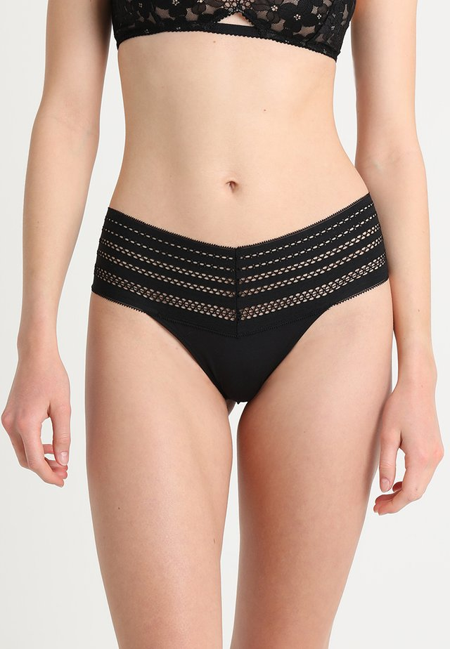 CLASSIC WIDE TRIM THONG - Tanga - black