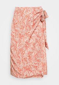 DIEGA - Wrap skirt - coral
