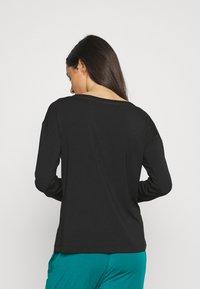 Calvin Klein Underwear - PERFECTLY FIT FLEX WIDE NECK - Pyjama top - black - 2