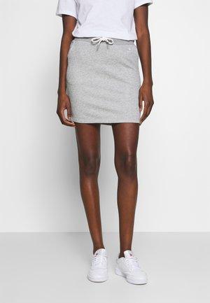 GANT LOCK UP SKIRT - Mini skirt - grey melange