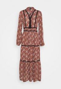 VMBELLA TIE DRESS - Day dress - marsala/bella