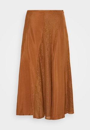 STELMA - A-line skirt - walnut