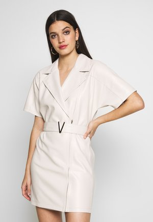 BELTED DRESS - Day dress - natural