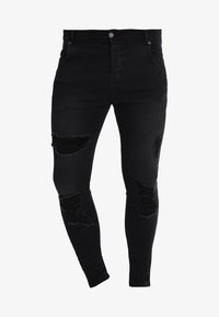 SIKSILK - DISTRESSED SUPER - Skinny džíny - black - 3