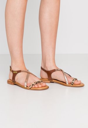 HORSOU - T-bar sandals - or