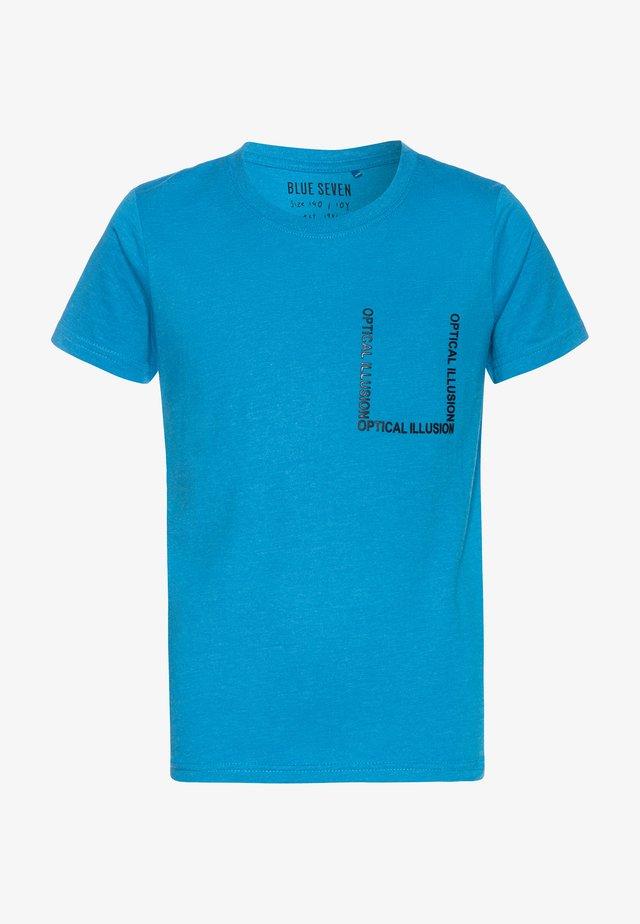 RUNDHALS - Camiseta estampada - cyan