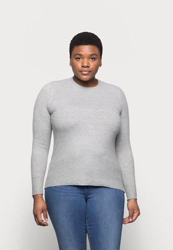 BRICK CREW - Stickad tröja - light grey