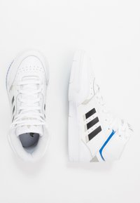 adidas Originals - DROP STEP - Sneakersy niskie - footwear white/metallic grey/glow blue