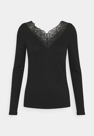 YASELLE V NECK  - Long sleeved top - black