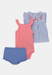 Carter's - STRIPE SET - Top - blue/light pink - 0