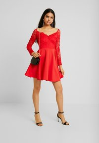 Nly by Nelly - OFF SHOULDER SKATER - Pouzdrové šaty - red - 1