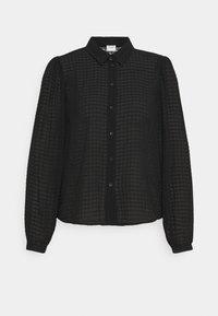 JDYDIANE PUFF SHIRT - Button-down blouse - black