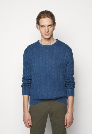Strickpullover - aged royal