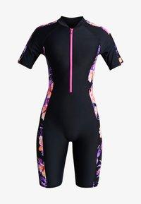 Zoggs - BLOOMSBURY KNEESUIT - Swimsuit - black/multi - 3