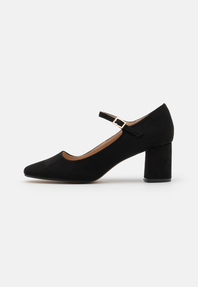 WIDE FIT DERRY COURT - Classic heels - black